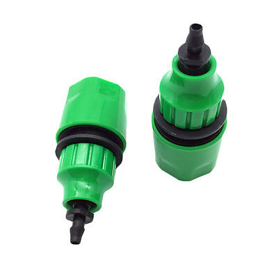 Plastic 1/4'' Quick Connector Barbed Garden Lawn Irrigation Hose Pipe Fittings