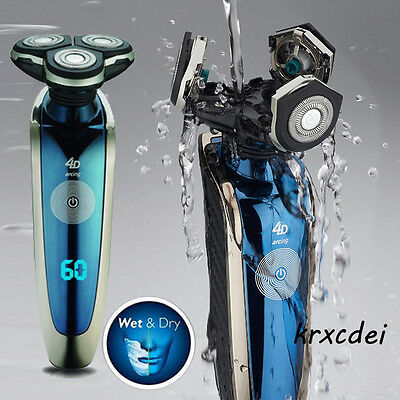 UK Mens Electric Shaver Razor Wet Dry Rechargeable Cordless Trimmer Waterproof