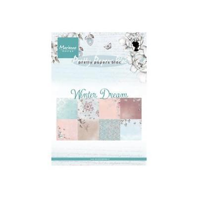 Marianne Design A5 Pretty Papers Pad - Winter Dream PK9150