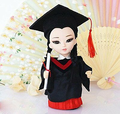 6'' Mini Q Version Female Scholar Doll Figurine Handmade Collectible Gift decor