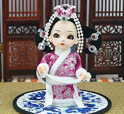 5'' Handmade Mini Q Version Figurine Chinese Ethnic Minority Mongolian girl Doll