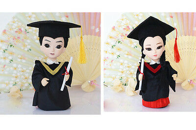 2Pcs 6'' Mini Q Version Female and Male Scholar Doll Figurine