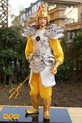 32cm tall Ancient Chinese Warrior Soldier Commander Resin Face 0.8kg Collectible