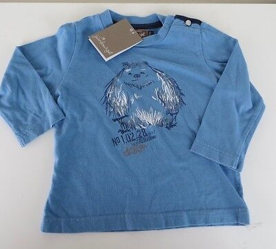 *BNWT* Jean Bourget Blue Long Sleeve Baby Boy Top 18mths 6mths French Designer