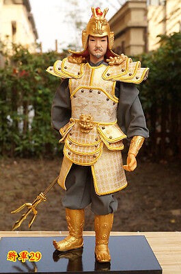 32cm  Ancient Chinese Handmade Martial Warrior Commander Silk PU Leather Cloth