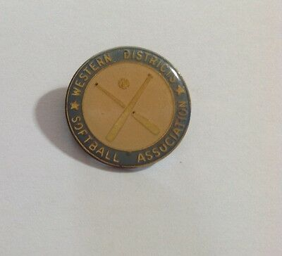 Collectable Metal Badge - Western Districts Softball Association
