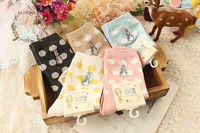 Peter Rabbit Spotty Dots Ankle Socks Beatrix Potter Character Novelty Adult 4-6