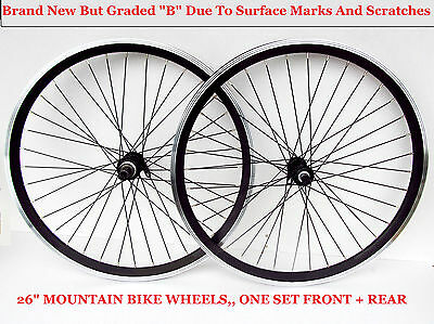 """New B Grade 26"""" Mtb Wheels Set ,front + Rear Marked / Scratched But Unused New !"""