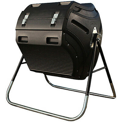 80 gallon compost tumbler black composter bin yard kitchen composting bucket