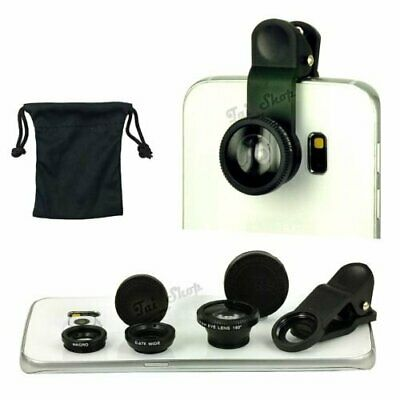 Fish Eye Wide Angle Macro Camera Lens Accessory Pack For Samsung Galaxy