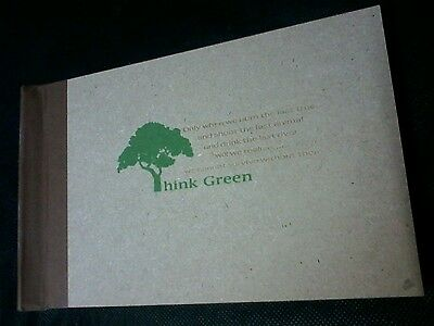 RUSTIC THINK GREEN PHOTO ALBUM RECYCLED LOOK 100 4x6 PHOTOS [d] CO CONCEPTS NEW