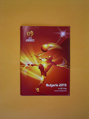 2015 UEFA Under 17 European Championship Finals Official Programme + Ticket