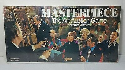 Masterpiece The Art Auction Game Parker Brothers Vintage 1970 Brand New Sealed!