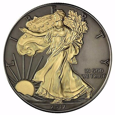 USA Silver Eagle 2017 Black Ruthenium Edition 1 Dollar Silber-Münze Stempelglanz