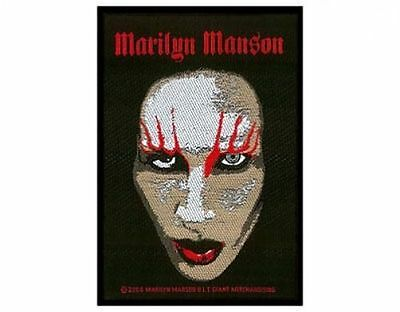 MARILYN MANSON face 2016   - WOVEN SEW ON PATCH - free shipping