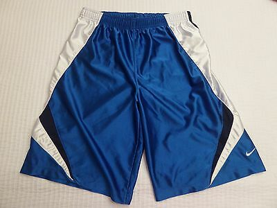 Nike  Youth Polyester Athletic Shorts Size L 14-16 Royal Blue, Black & White