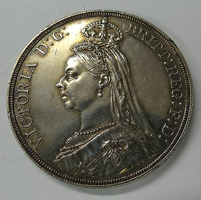 1887  Queen Victoria Silver Crown UNC (Proof?) in Beautiful Condition (See Pics)