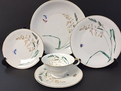 Heinrich H C Selb Bavaria SOMMER China Lot Of Four 5 Piece Place Settings Mint