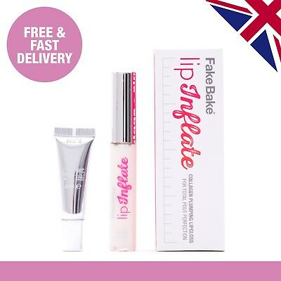 Fake Bake Lip Inflate | Collagen Plumping Lipgloss | Lip and Pout Voltage | 8ml
