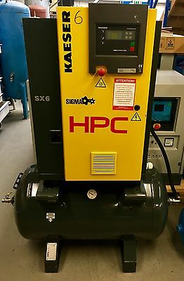 HPC / Kaeser SX6 Receiver Mounted Rotary Screw Compressor! 25Cfm! 4.0Kw, Mint!