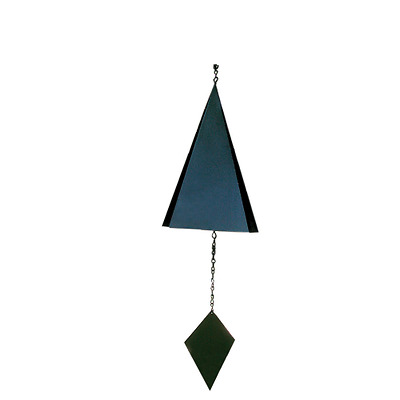 Rome 9616 Lonesome Canyon Wind Bell, Black Powder Coated Steel, 28-Inch Height