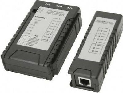 Kauden Structured Wiring Cable Tester with Advanced Power Over-Ethernet Checker