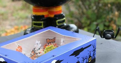 Pack of 10 Halloween Cookie / Bakery Box 8 x 5-3/4 x 2-1/2 with Window