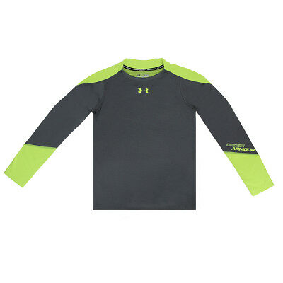 Under Armour Boy's UA ColdGear Infrared Grid Hybrid Fitted L/S Shirt Graphite L