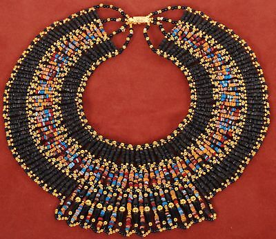 Marvellous Large Egyptian Mummy bead Cleopatra Collar Necklace