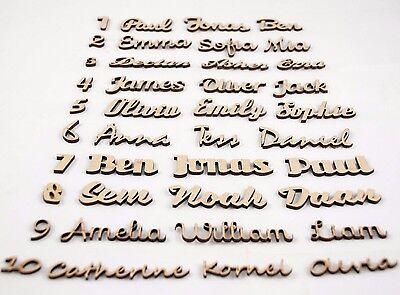 Script Names Letters Words MDF Personalised Book Art Wooden Wood 20 fonts !!!!!!