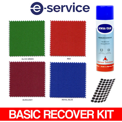 7 Foot Pool Table Cloth Recovery Kit - Basic - Hainsworth Cloth, Glue & Spots