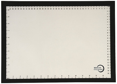 Mercer Culinary Half Size Silicone Bake Mat with Black Border, 11 7/8-Inch by 16