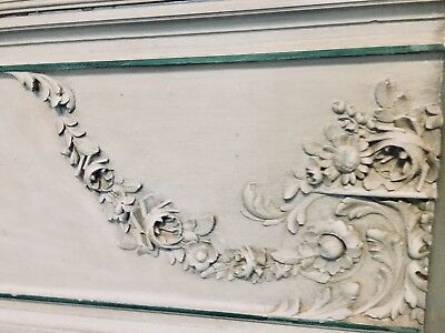 Louis XVI Style French King Bed Headboard w Footboard, Finest All Wood Carvings