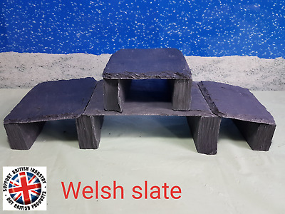 Fennstones build your own real slate cave structure kit vivarium aquarium fish