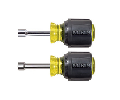 Klein Tools 610M 1-1/2-Inch Hollow Shanks Magnetic Tip Nut Driver Set