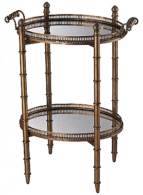 Sterling 6043717 Tyrella Metal/Antique Mirror Transitional Tray Table, 32-Inch,