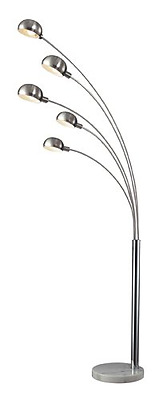Dimond D2173 45-Inch Width by 83-Inch Height Penbrook Arc Floor Lamp in Silver P