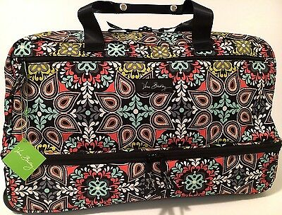 Vera Bradley SIERRA WHEELED CARRY ON Luggage Rolling Suitcase Travel Bag NWT