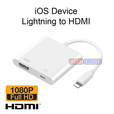 Lightning 8Pin To HDMI Adapter AV TV Cable For Apple iPad Air iPhone 6 6s 7 Plus