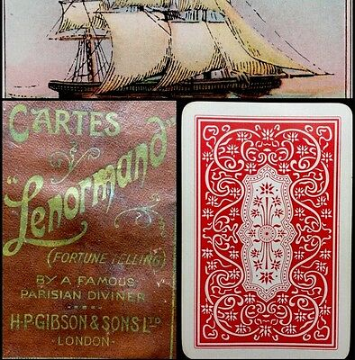 c1920 Historic Obsolete Lenormand Rare Cartomancy Fortune Telling Playing Cards
