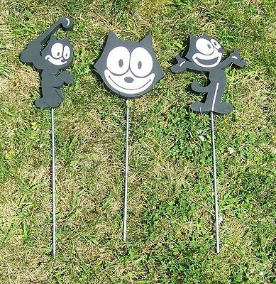 Homemade Felix the Cat Wood Figurines, School Mascots!! Your Choice