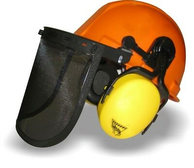 Workhorse Forestry Safety Helmet Kit With Earmuffs Mesh Visor Chainsaw Loggers