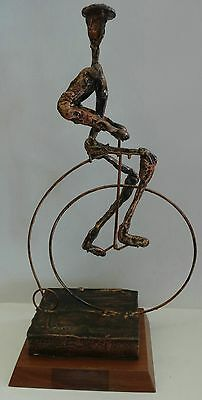 Bronzed Penny Farthing Sculpture  From the 80's