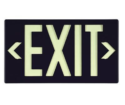 NEW National Marker 7060B BLACK EXIT SIGN