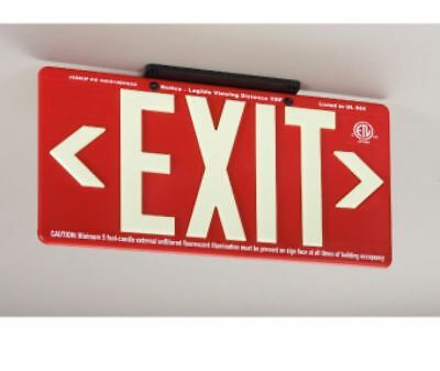 NEW National Marker 7070B 100FT RED EXIT SIGN