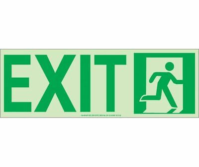 NEW National Marker 50F-2SN-R EXIT SIGN
