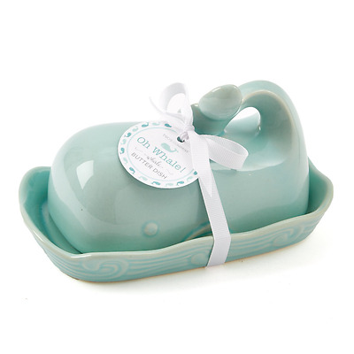 Two's Company 51197 Oh Whale Butter Dish, Seafoam