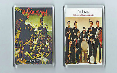 Magnets x 2 : THE POGUES If I Should Fall../Rum, Sodomy... punk alt. Irish Folk
