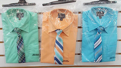 Boys Holiday Editions Assorted Long Sleeve Dress Shirts w/ Tie Sizes 4/5 - 14/16