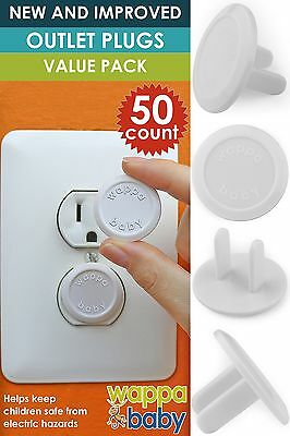 50 x Power Socket Cover for Children Safety Electric Plug Cork Protection Outlet